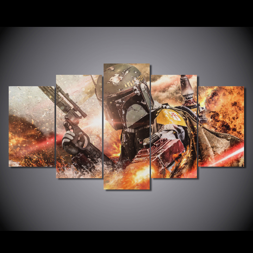 Canvas Art Printed Star Wars 5 Piece Picture Painting