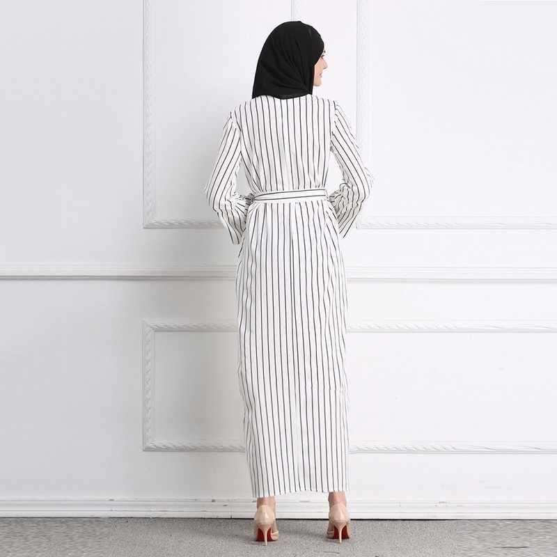 2018 мусульманское Длинное Макси хиджаб арабское платье Дубай Абая халаты кимоно Юба Рамадан Арабский исламский одежда платье юката