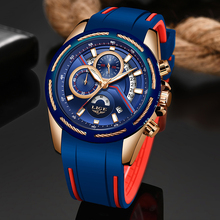 LIGE Men Sports Watch Chronograph Silicone Strap Quartz Army Military Watches Clock Men Top Brand Luxury Male Relogio Masculino men s army military watch man quartz clock relogio masculino luxury brand men analog digital leather sports watches