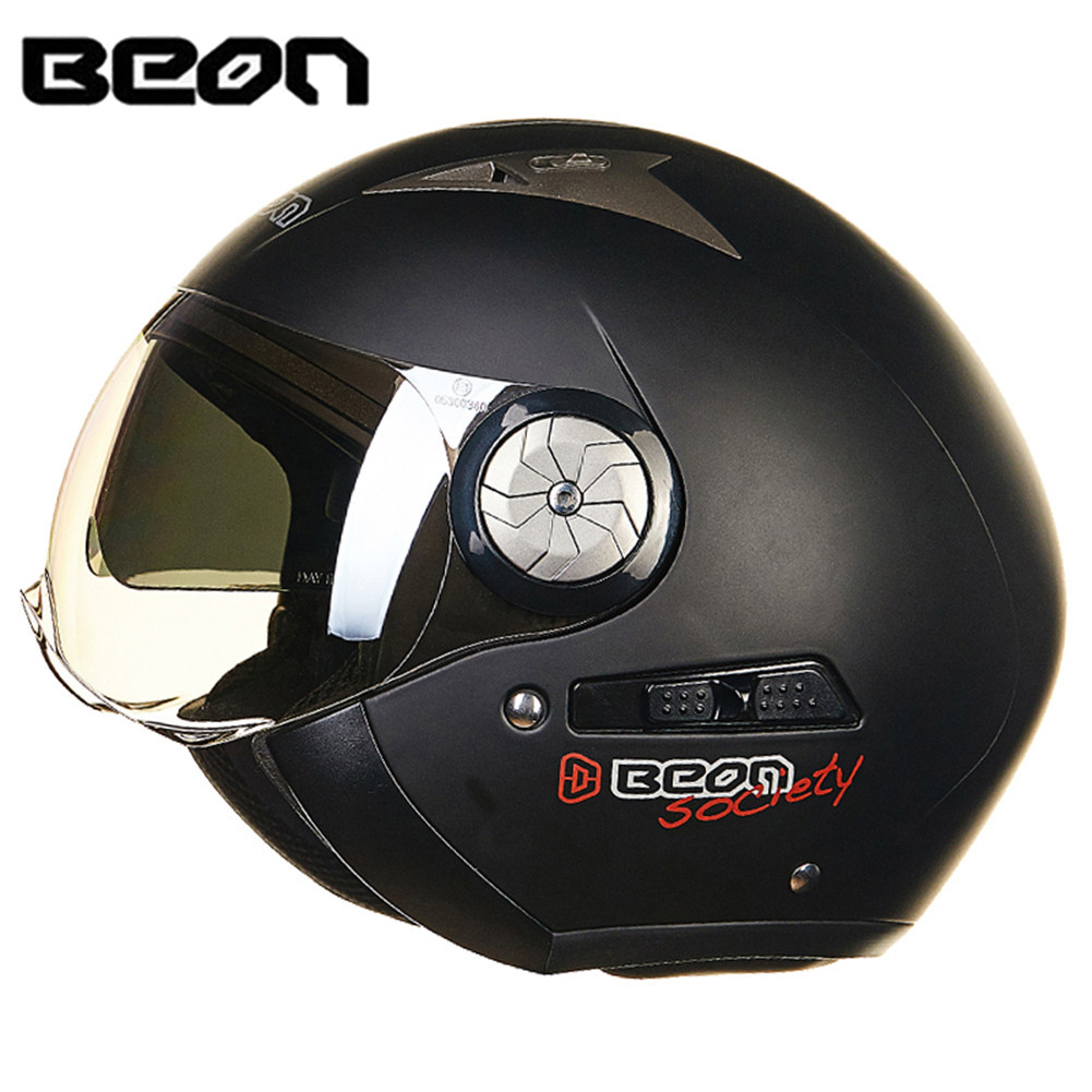 BEON Scooter Motorcycle Helmet Chopper 3/4 Open Face Vintage Helmet Moto Casque Casco motocicleta Capacete Men Women helmets