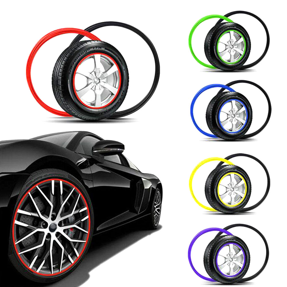 1Pcs Silicone Car Wheel Hub Edge Protector Sticker Tire Guard Line Strip Multi Colors1Pcs Silicone Car Wheel Hub Edge Protector Sticker Tire Guard Line Strip Multi Colors
