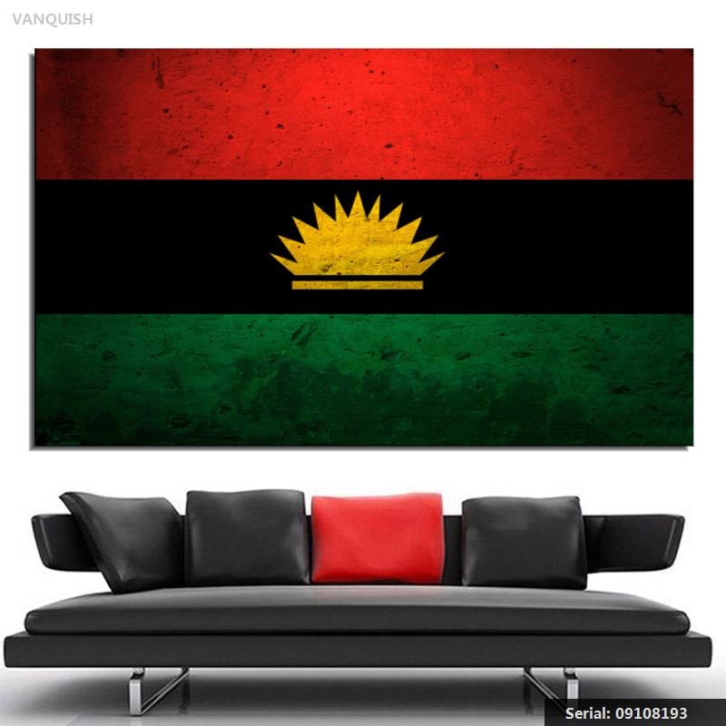 Biafra flag 150x90cm 3x5ft 120g 100d polyester double stitched vanquish biafra flag canvas grunge wall art print on canvas painting for modern abstract huge wall thecheapjerseys Images