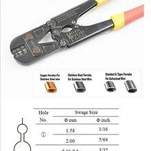 1 шт. обжимной инструмент для прессования наконечников+ резак для стальной проволоки для 1,5-3,5 мм и всех типов наконечников