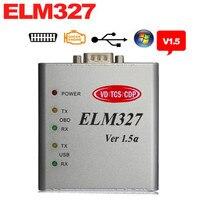 2013 Wholesale Price NEWEST OBDII V1 5 ELM327 USB Scanner Metal Case CAN BUS Interface Elm