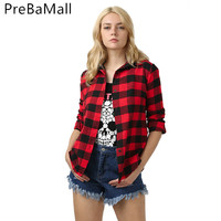 Fashion Casual Women Blouses Shirt V Neck Plaid Roll up Sleeve Button Down Blouses Tops Woman's Slim Clothing C208
