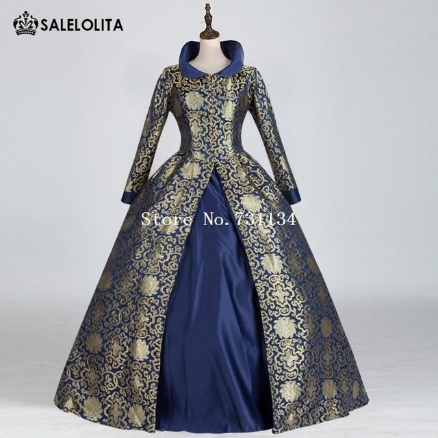 Viktorianischen Bürgerkrieg Regal Königin Blumendruck Kleid ...