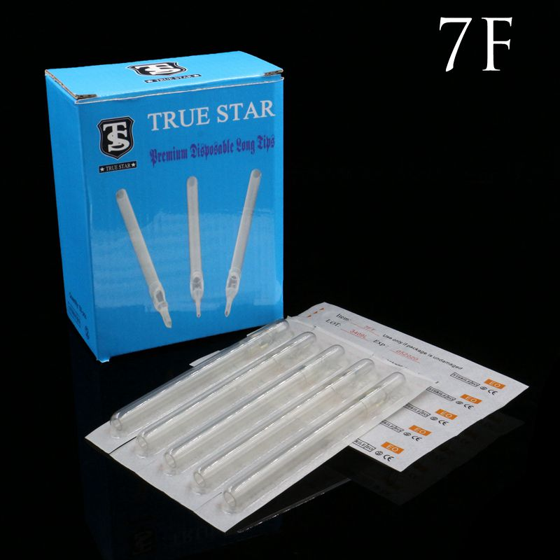 50PCS 7F True Star Tattoo Tip Clear Long Disposable Tips 108mm needles tip For tattoo needles Free Shipping50PCS 7F True Star Tattoo Tip Clear Long Disposable Tips 108mm needles tip For tattoo needles Free Shipping