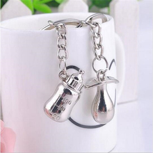 20Pairs Baby's Bottle And Nipple Keychain Wedding Favors And Gifts Baby Shower Souvenirs Wedding Decoration Supplies
