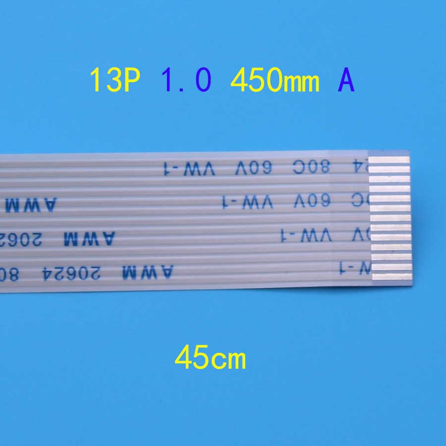 FFC FPC Kabel Flat Fleksibel Maju 13 Pin 13PIN Panjang 450 Mm 1 Mm Pitch Kabel Pita 1.0-13 p-450 Mm