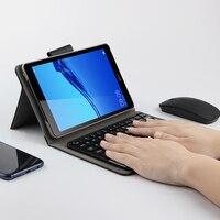 화웨이 mediapad m5 lite 8.0 JDN2-W09 JDN2-AL00 블루투스 키보드 보호 커버 pu 가죽 m5 라이트 8 태블릿 pc 케이스