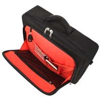 Newcom 18L Classic Waterproof Grooming Bag Men Nyloon Concise Briefcase For Business Travel Large Capacity Bag Black Orange