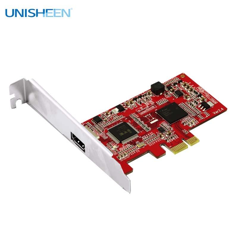 Захват Hd-видео карты PCIe 1080P30 HDMI карта захвата Vmix Wirecast Obs Live потоковая Youtube Facebook