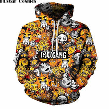 PLstar Cosmos street style Men Women Funny 3D Hoodies graphic print classic cute cartoon glo gang Hooded Sweatshirts Size S-5XL