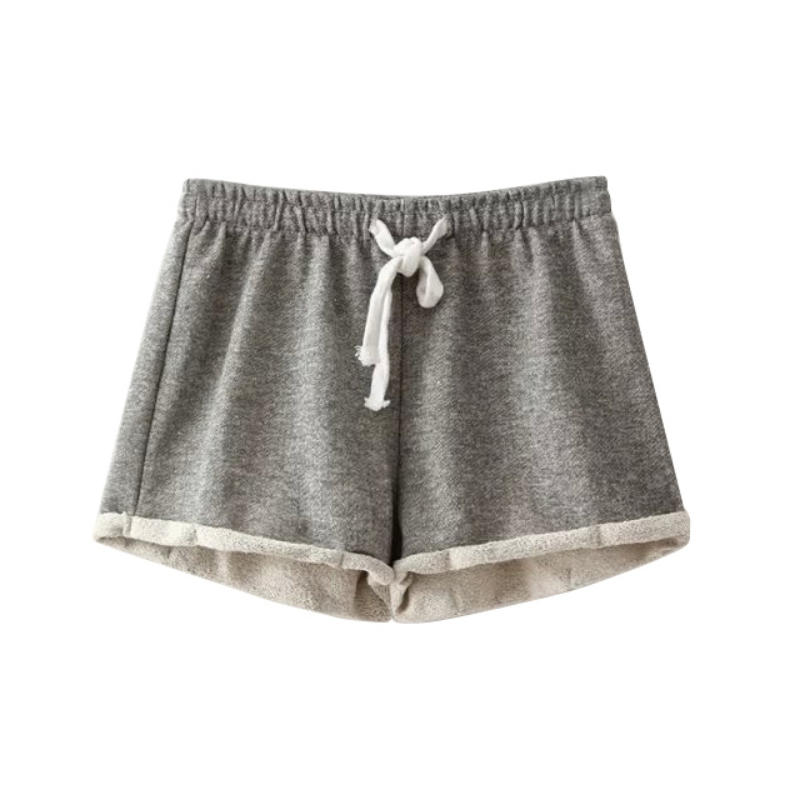 Summer New Women Elastic Waist Tunic Drawstring Elegant Beach Pocket Cuffs Casual Brand Shorts
