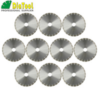DIATOOL 10pcs 14 Diamond Silent Saw Blade Sandwich Steel Core Cutting Disc Bore 60mm Granite Blade Diamond Wheel Disk