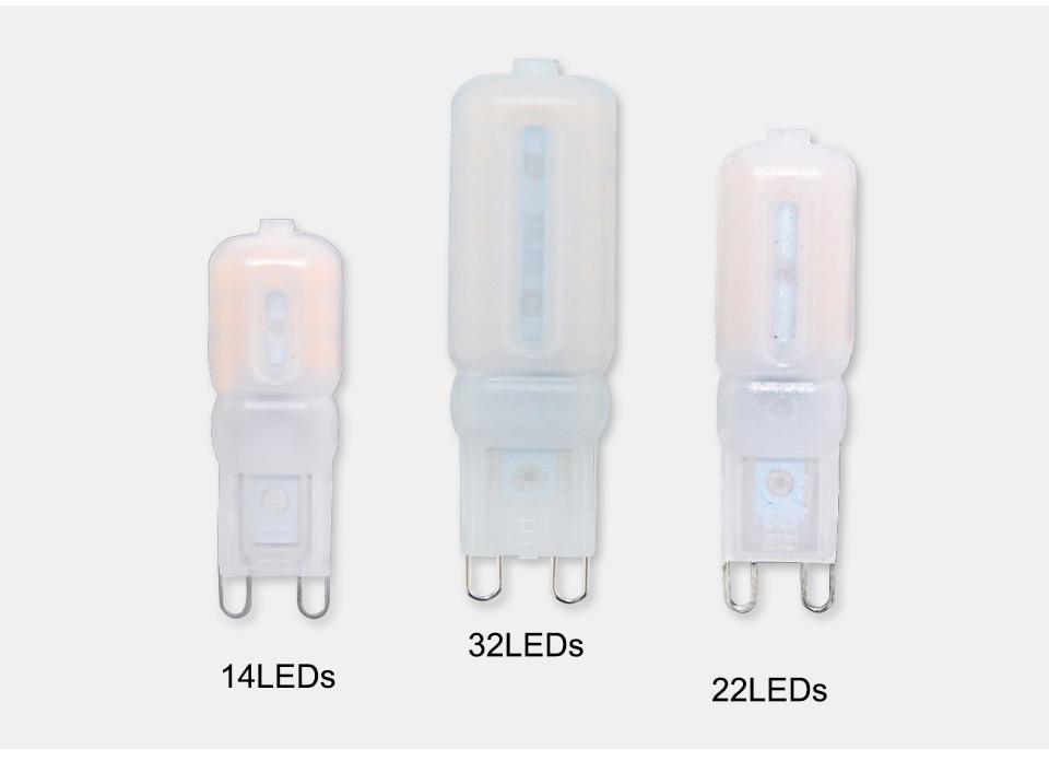 G9 LED Lamp 5W 7W 9W LED Light Bulb AC 220V 110V Chandelier (12)