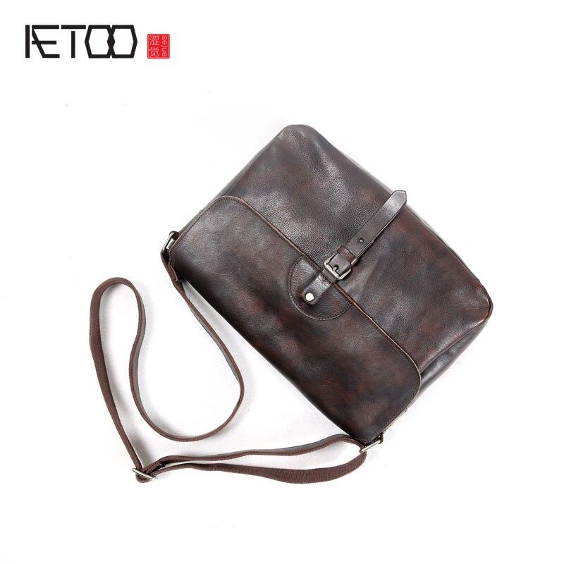 Aetoo ручной работы из кожи в стиле ретро мужской сумка мужская повседневная первый слой кожи сумка Японский раскладушка Мужская Ba