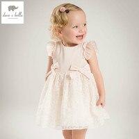 DB4953デイブベラ夏女の赤ちゃんのプリンセスドレス赤ちゃんビッグ弓ネット糸のウェディングドレス子供誕生日服ドレス女の子衣