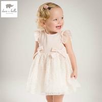 DB4953 Dave Bella Summer Baby Girl Princess Dress Baby Big Bow Net Yarn Wedding Dress Kids