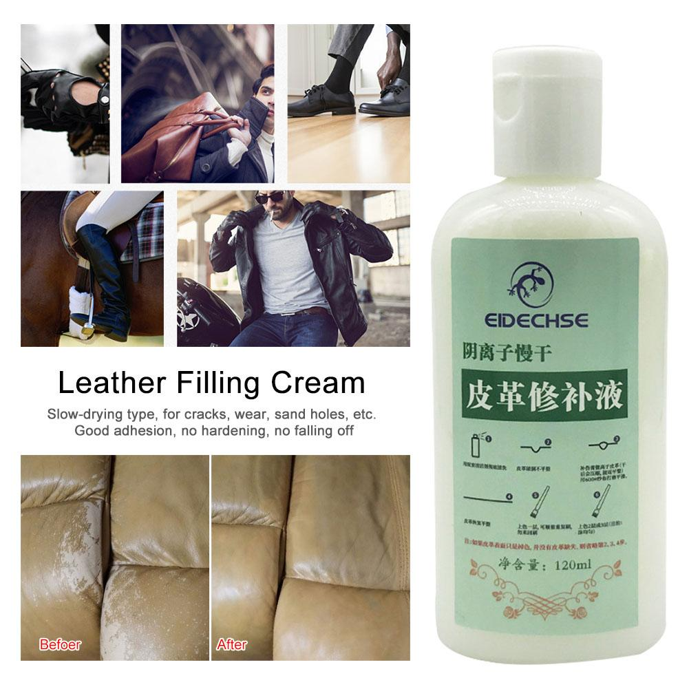 120ML Car Leather Cleaner Complete Leather Care Kit Protection Cream For Sofas Cars Furniture image