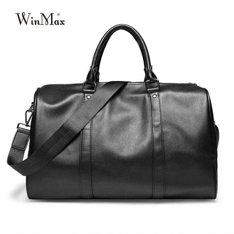 Hommes nouveaux sacs en cuir de mode mâle grande capacité voyage fourre-tout Top poignée voyage affaires sacs à main une bande voyage sacs à bandoulière