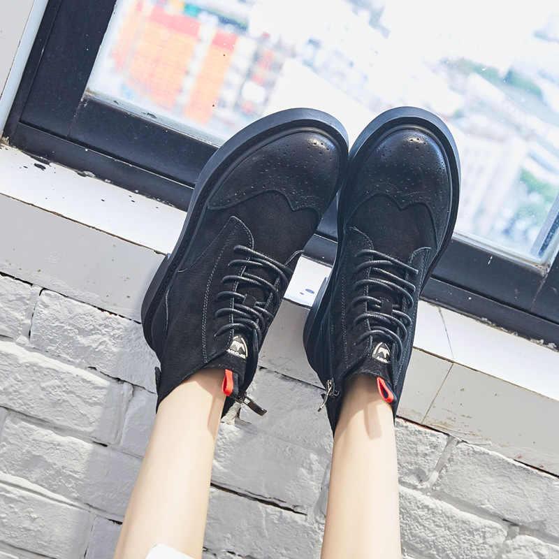 Bayan botları retro sıcak Haisum botları bayanlar tüp kısa çizmeler Kore rahat düz kadın ayakkabısı H-1828