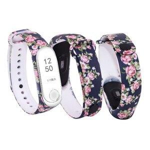 Image 3 - Substituição de silicone alça de pulso para 3 4 inteligente pulseiras Cinta Para Xiao mi mi mi mi Banda 3 pulseira Pulseira para mi banda 4