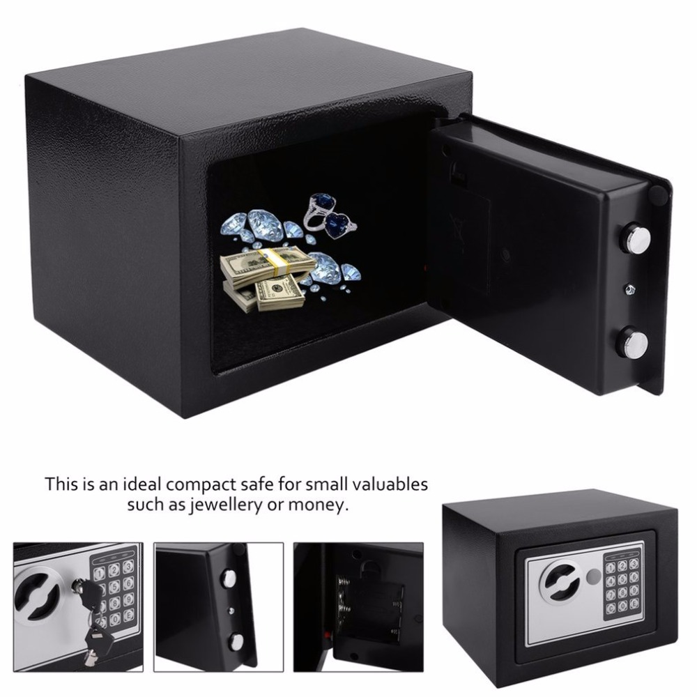 4.6L Safety Box Home Digital Electronic Security Box Home Office Wall Type Jewelry Money Anti-Theft Safe Box