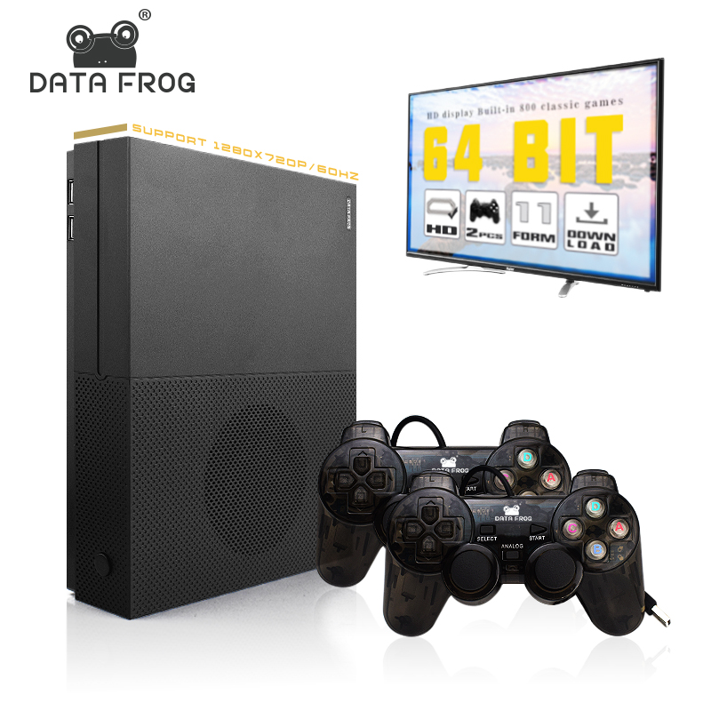 цена на Data frog HD Video Game Console Support 4K HDMI TV Output 64 Bit Built In 800 Games For PS1/GBA Retro Console