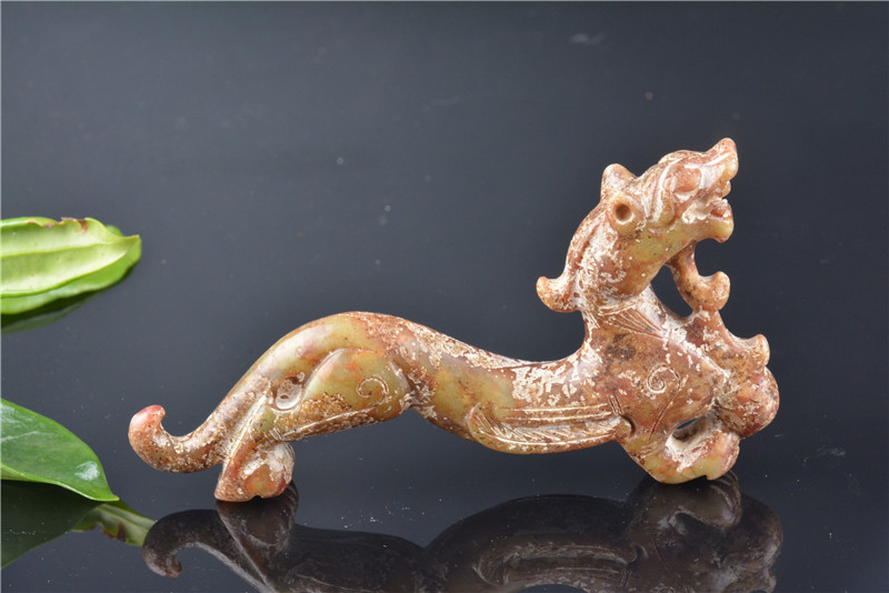 Old Han dyansty(25 189) Hetian jade unicorn statue / sculpture,Carved ornaments,Handmade crafts,collection& adornment