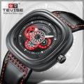 Бренд Tevise  мужские механические часы  автоматические часы  модные мужские водонепроницаемые спортивные часы  Relogio Masculino  2019
