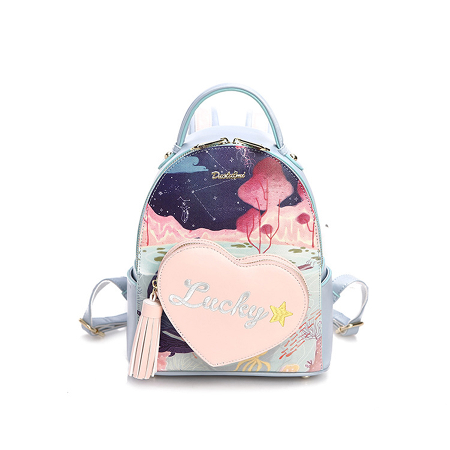 School bag embroidery - 2017 New Fashion Women S Backpack Digital Printing Embroidery Bag Girl S School Bag Japan And Korean Style