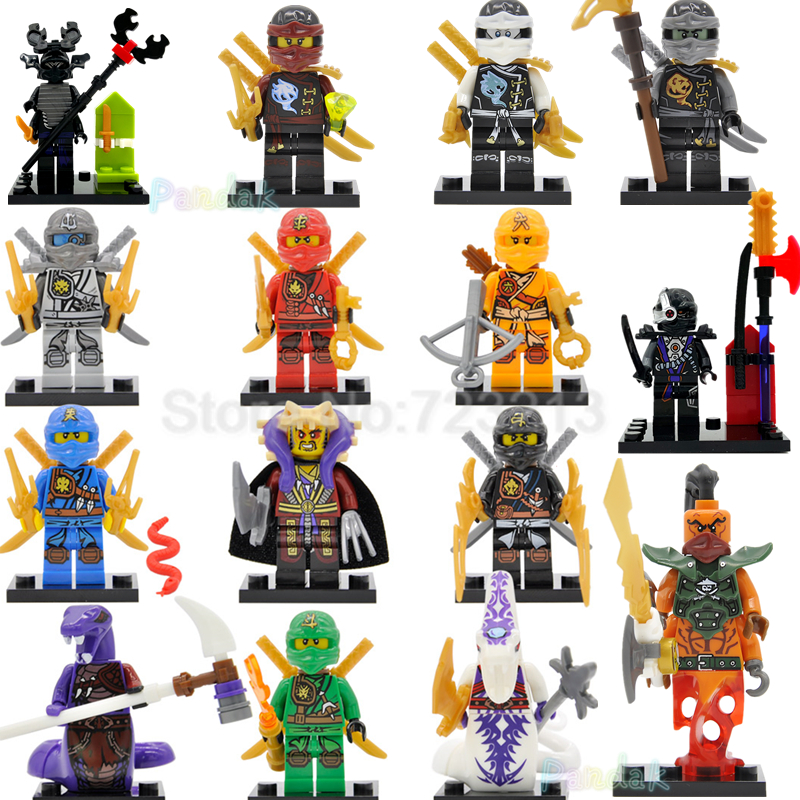 Single Sale Ninja Figure Cole Lloyd Kai Zane Nya Skylor Pythor Nadakhan Master Chen Kaput GARMADON Building Blocks Toys