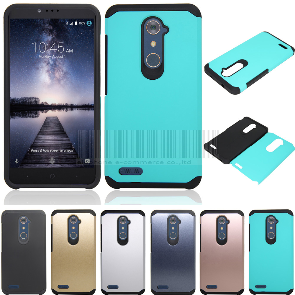 online store de1a0 ecd5c US $2.54 15% OFF|Phone Case For ZTE Zmax Pro Z981 Z988 Mix Color PC+TPU  Anti shock Slim Hybrid Protective Armor Cover Fundas Skin-in Fitted Cases  from ...