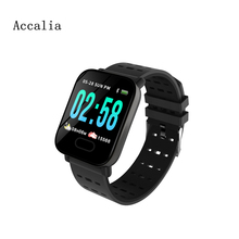 Accalia A6 Bluetooth USB Smart band Pulsometer Heartrate Watch Fitness Tracker remote Control smart bracelet Waterproof Bracelet