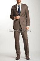 Wedding Suits For Men Dark Brown Custom Made, Bespoke Chocolate Brown Suits For Men, 2 Button Peak Lapel Men Wedding Suit