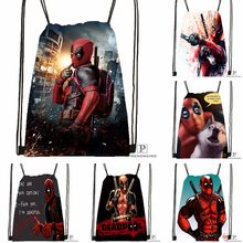 Custom Deadpool Drawstring Backpack Bag Cute Daypack Kids Satchel (Black Back) 31x40cm#180531-03-28(China)