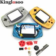 DIY pełna powłoka Case część naprawcza Pack dla GameBoy Advance GBA konsola wymienna obudowa pokrywa podkładka gumowa przyciski