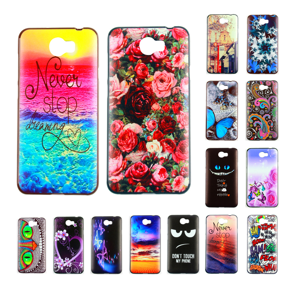new concept 68f4a e2734 US $1.89 5% OFF|For Huawei 4C Pro Case Fashion Beautiful DIY SOFT TPU Print  Phone case for Huawei Honor Y5II case for Huawei 4C Pro MI Note 2-in ...
