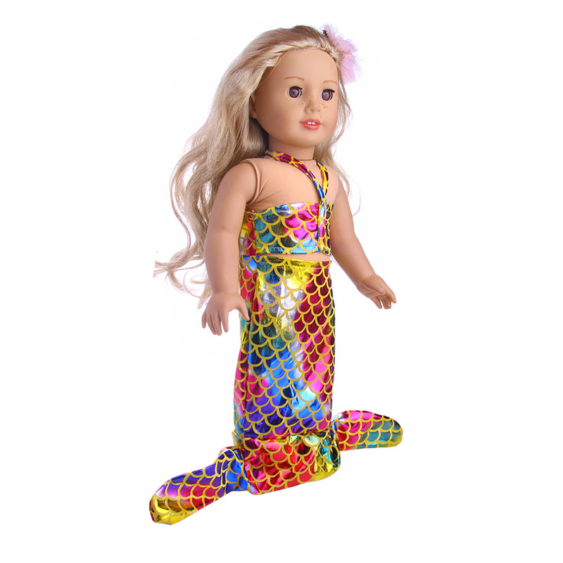 The 2018 Hot Sell Mermaid Dress For 18 Inches American Doll And 43cm Baby Doll As The Best Gift For Children B698 Dolls & Stuffed Toys