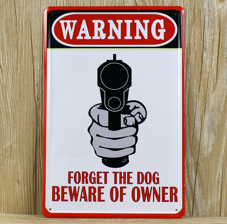 Буквы лозунг Предупреждение a-0285 старинные металлические наклейки в ретро стиле живопись белой жести стены художественных промыслов дома...