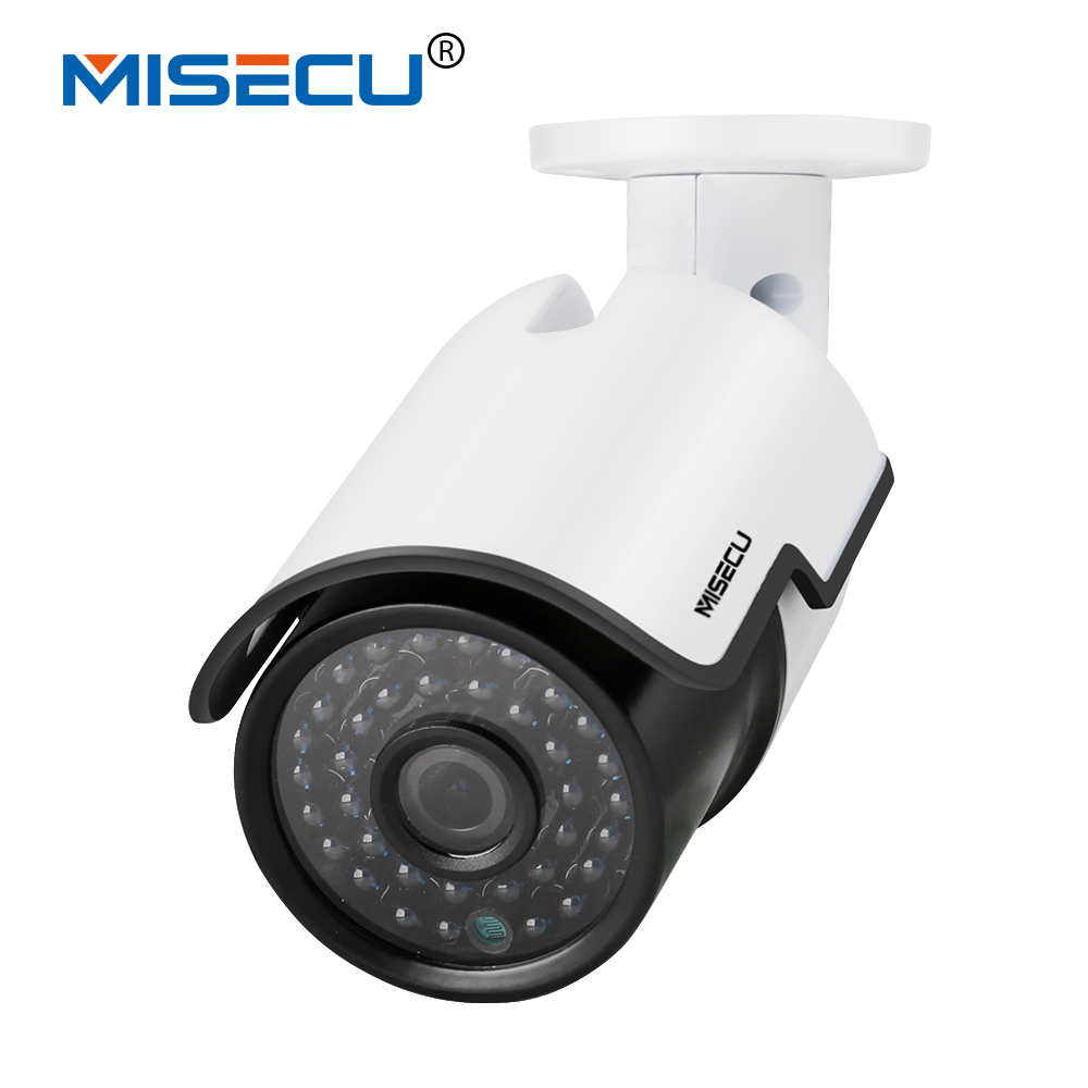 MISECU 48 VPoE 1080 P Ao Ar Livre Full HD 2MP Câmera IP POE POE 802.3af Bala ABS Fora/indoor Night Vision P2P Home security XMEye APP