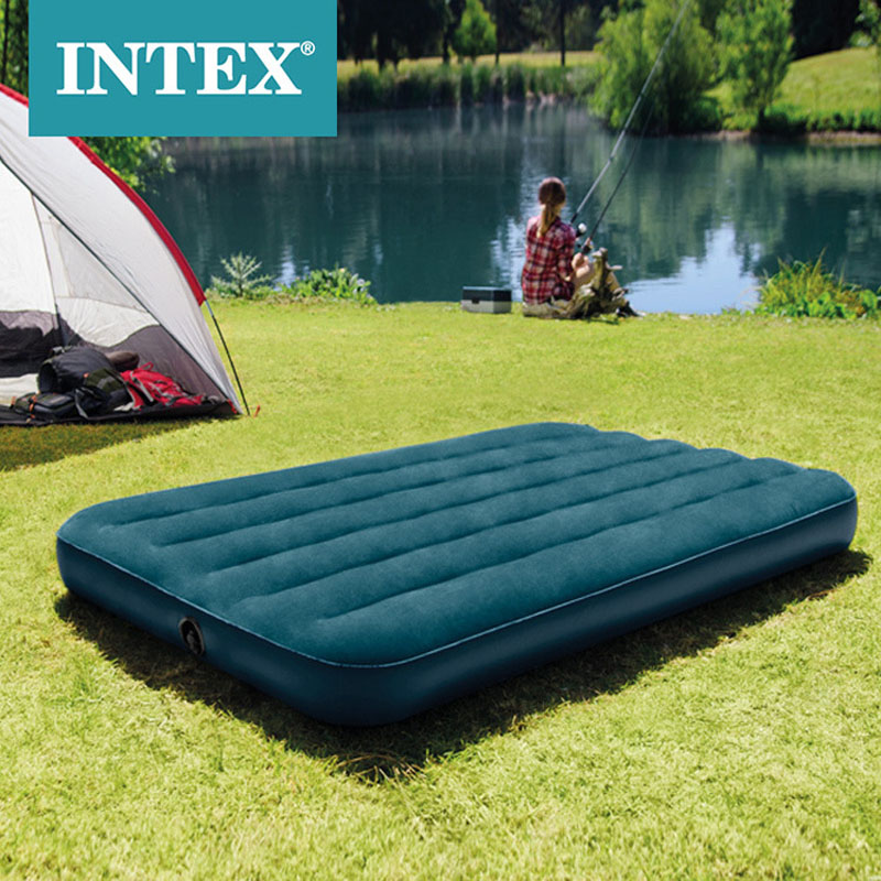 New Striped Flocking Single Increase Inflatable Mattress Air Bed Tent Camping Mat 64732