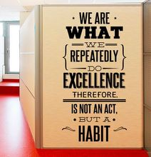 Office Wall Sticker Inspiration Quote We are What Decal Removable Studio Vinyl Art Poster AY064