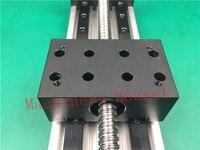 Высокая точность GX80 * мм 50 мм Ballscrew 1204 мм 350 эффективное путешествие + Nema 23 шаговые двигатели этап линейного движения один блок