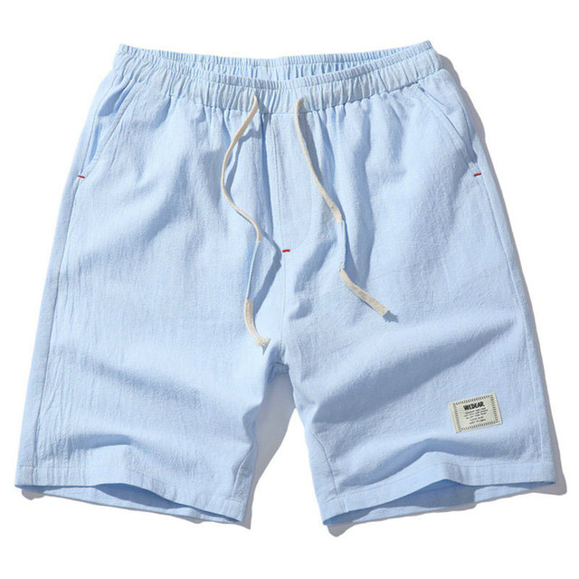 2018 Hot Fashion Men Short Pants Summer Linen Men Shorts Casual Slim Solid Beach Bermuda Shorts 3