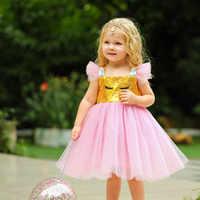 Enfants licorne robe enfant en bas âge fille arc-en-ciel paillettes Tulle robes bébé 1st 1 an anniversaire robes enfants mariage princesse robes