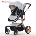 Luxury Baby Stroller 8 Free Gifts High Landscape Carriage For Newborn Infant 4 Wheels