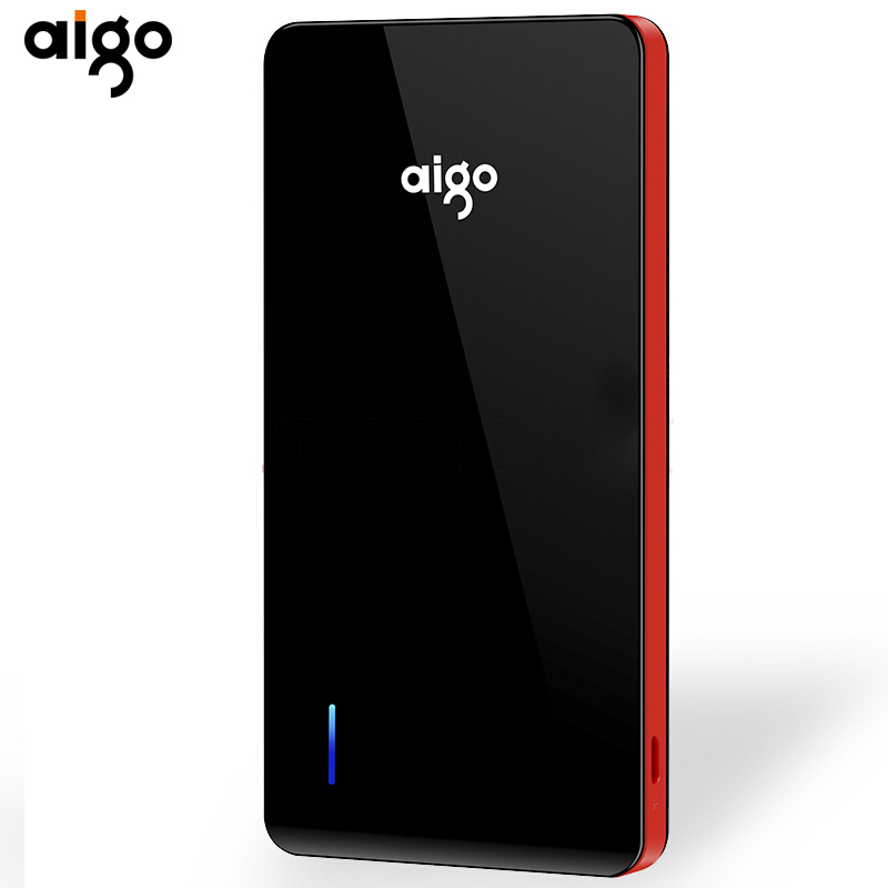 Aigo 10000 mah Power bank Ultra Slim Powerbank Portable External Battery Charger For iPhone Mobile Phone Poverbank for xiaomi
