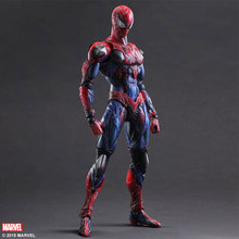 25cm Spiderman Action Figure Play Arts Kai Spider Man Anime Model Toys Superhero Playarts Spider-Man for gift free shipping